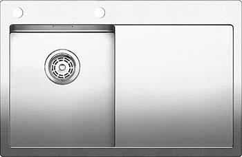 Кухонная мойка BLANCO CLARON 4S-IF/А (чаша слева) нерж. сталь зеркальная полировка 521624 blanco elipso s ii нерж сталь зеркальная