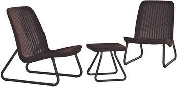 Комплект мебели Keter Rio patio коричневый стол сундук circa storage rattan table 132l keter