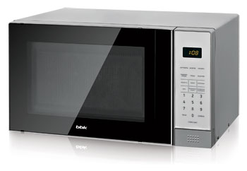 Микроволновая печь - СВЧ BBK 20 MWS-729 S/BS черный/серебро holder mws 2003 metallic кронштейн для свч