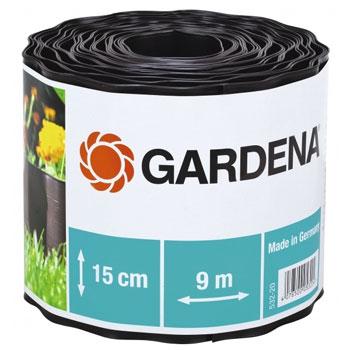 Садовый бордюр Gardena черный 15 см длина 9 м 00532-20 цена и фото