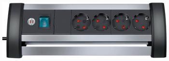 Удлинитель Brennenstuhl Alu-Office-Line 1 8м  4 роз/заземл (1394000414) удлинитель бытовой brennenstuhl eco line 10 гн с заземл 3 м выключатель черный