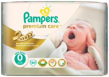 Подгузники Pampers Premium Care Newborn 1-2.5 кг 0 размер 30 шт подгузники детские pampers подгузники pampers premium care 3 6 кг 2 размер 148 шт