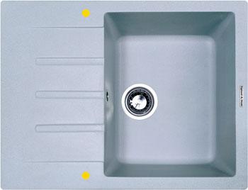 Кухонная мойка Zigmund amp Shtain RECHTECK 645 млечный пут кухонная мойка zigmund amp shtain platz 465 топленое молоко