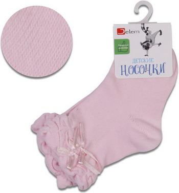 Носочки Jetem Бант с резинкой пикот-гафре 12 / 80-86 розовые