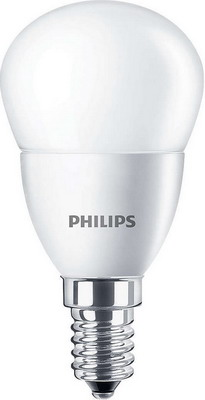 Лампа Philips CorePro lustre ND 5.5-40 W E 14 840 P 45 FR led лампа philips corepro ledbulb 9 60w no dim