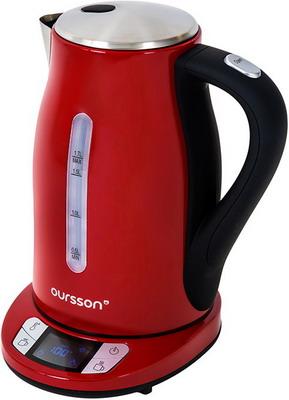 Чайник электрический Oursson EK 1775 MD/RD (Красный) холодильник однодверный oursson rf 1005 rd