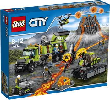 Конструктор Lego City База исследователей вулканов 60124 конструкторы lego lego city jungle explorer база исследователей джунглей 60161