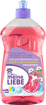 Гель для мытья посуды Meine Liebe Гранат и цветы шиповника 500 мл ML 32203 таблетки для пмм meine liebe all in 1 21 шт ml 32208