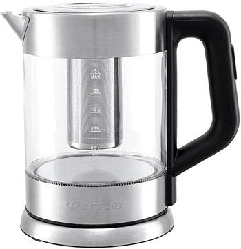 Чайник электрический Kitfort КТ-623 мантоварка катунь кт 243м 24 см 4 5 л нержавеющая сталь