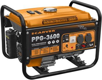 Электрический генератор и электростанция CARVER PPG-3600 01.020.00003 комплект транспортировочный carver для генераторов ppg 3600 8000е 01 020 00014