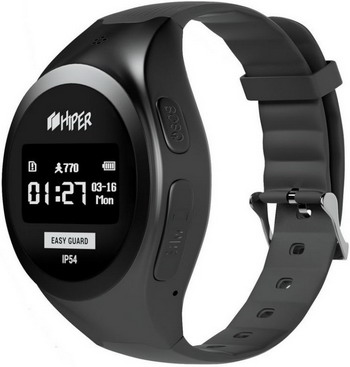 Детские часы с GPS поиском Hiper EasyGuard BLACK (EG-01 BLK) portable multi function sms gprs gps vehicle tracker black