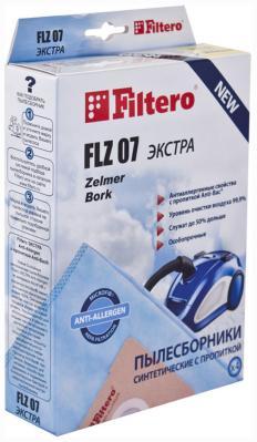 Набор пылесборников Filtero FLZ 07 (4) ЭКСТРА Anti-Allergen набор пылесборников filtero row 07 4 экстра anti allergen