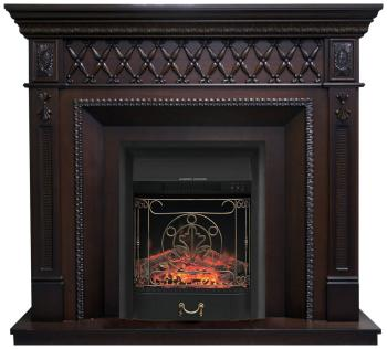 все цены на Каминокомплект Royal Flame Alexandria с очагом Majestic Black (махагон коричневый антик) (64901775) онлайн