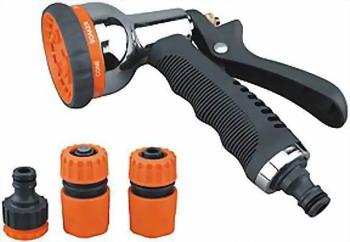 Набор пистолет для полива с комплектом соединителей BELAMOS YM 7504 ползунки емае