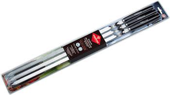 Набор шампуров Forester Набор шампуров больших в блистере 6 шт. с деревянными ручками набор полимерного моделина сernit neon 5цв 30гр в блистере