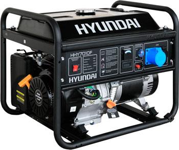 Электрический генератор и электростанция Hyundai HHY 7010 F генератор бензиновый hyundai hhy 5000f