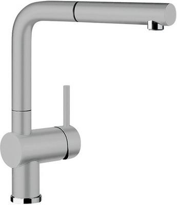 Кухонный смеситель BLANCO LINUS-S КЕРАМИКА серый алюминий  смеситель linus anthracite 516698 blanco