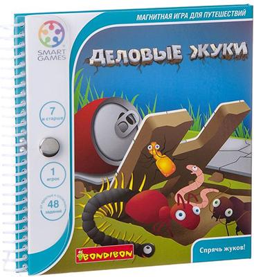 Настольная игра Bondibon Магнитная игра для путешествий ДЕЛОВЫЕ ЖУКИ ВВ0885 игра bondibon детектор лжи вв2110