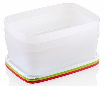 Контейнеры для заморозки Tescoma PURITY 1 5л  3шт 891866 набор контейнеров для заморозки tescoma purity цвет красный прозрачный 300 мл 2 шт