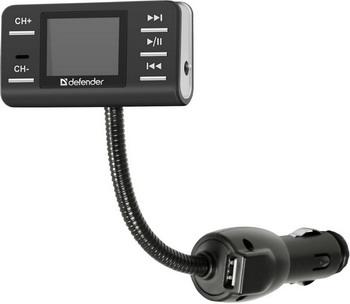 Fm-трансмиттер Defender RT-PRO Пульт ДУ USB 83551 fm трансмиттер с пультом ду intego fm 109