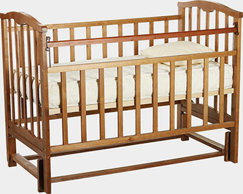 Детская кроватка Агат ''Золушка-5'' 120*60 классическая  маятник продольный  Орех обычная кроватка агат 52101 золушка 3 орех