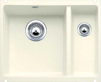 Кухонная мойка BLANCO 523742 SUBLINE 350/150-U керамика глянцевый магнолия PuraPlus с отв.арм. InFino кухонная мойка blanco 523738 subline 500 u керамика серый алюминий puraplus с отв арм infino