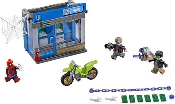 Конструктор Lego SUPER HEROES Ограбление банкомата 76082 super heroes batman decool blocks set mr freeze aquaman compatible with lego marvel models building toys
