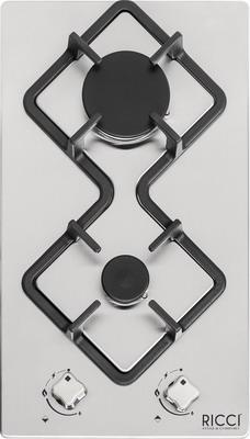 Встраиваемая газовая варочная панель Ricci RGN-KA 2002 IX нерж сталь встраиваемая комбинированная варочная панель ricci rkn 4t 1031 ix