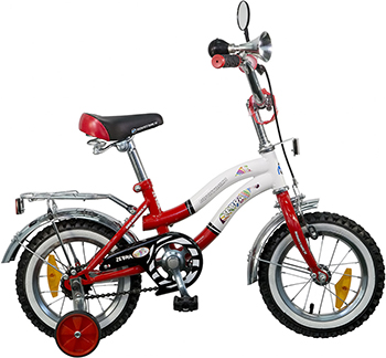 Велосипед Novatrack 12'' Зебра красно/белый 125 ZEBRA.RD5