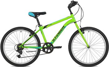 Велосипед Stinger 24'' Defender 12 5'' зеленый 24 SHV.DEFEND.12 GN8 велосипед stinger bmx graffiti цвет зеленый 20