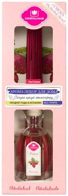 Арома-диффузор CRISTALINAS Mikado для жилых помещений с ароматом клубники и карамели 180мл
