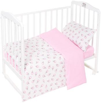 Комплект постельного белья Sweet Baby Gelato Rosa (Розовый) 3 предмета asabella комплект постельного белья asabella евро 4 предмета белоснежный кружево eaibxtl