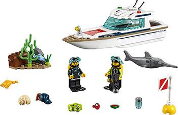 Конструктор Lego CITY Great Vehicles Яхта для дайвинга 60221 конструктор lego снегоуборочная машина 60222 city great vehicles