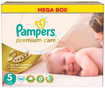 Подгузники Pampers Premium Care Junior 11-25 кг  5 размер  88 шт pampers pampers premium care junior 5 12 18 20