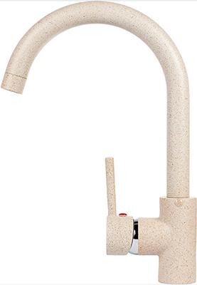 Кухонный смеситель Weissgauff Fabio granit R светло - бежевый  weissgauff midas granit шампань