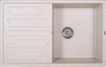 Кухонная мойка Weissgauff QUADRO 800 Eco Granit светло-бежевый  weissgauff atlas granit светло бежевый