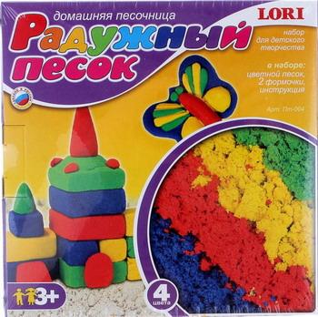 Домашняя песочница Lori Радужный песок 4 цвета