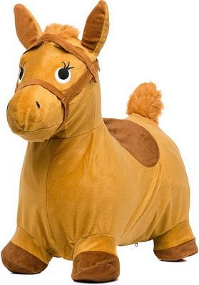 Лошадка-попрыгунчик Shantou Gepai бежевая лошадка скакалка shantou gepai лошадка с колесиками коричневый от 3 лет плюш