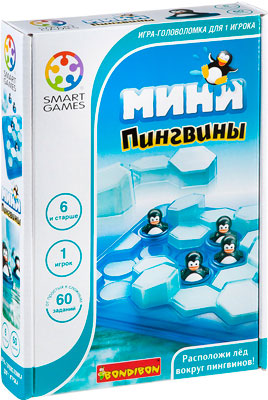 Настольная игра Bondibon Мини-пингвины  арт. SG 431 RU кольцо для салфеток павловский завод тройка 4 2 4 5 см с рисунком