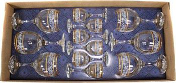 Фото - Подарочный набор Гусь Хрустальный 12 пр. арт.1614-ГЗ (Люкс) мини бар гусь хрустальный 12пр арт 1501 нг крокус нацвет гравировка фиолетовый
