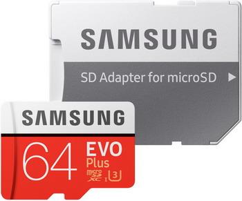 Карта памяти Samsung 64 GB MicroSDXC class 10 UHS-I EVO+ MB-MC 64 GA/RU цены онлайн