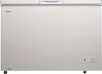 Морозильный ларь Kraft HGM 275 комод плетенка 4 х секционный 375х360х830мм бежевый пластик