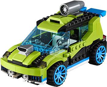 Конструктор Lego Суперскоростной раллийный автомобиль Creator 31074 автомобиль balbi автомобиль черный от 5 лет пластик металл rcs 2401 a