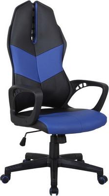 Кресло Tetchair iWheel кож/зам черный/темно-синий кресло tetchair runner кож зам ткань черный жёлтый 36 6 tw27 tw 12