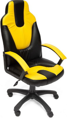 Кресло Tetchair NEO (2) (кож/зам черный жёлтый PU 36-6/36-14) кресло tetchair neo 1 кож зам черный жёлтый pu 36 6 36 14