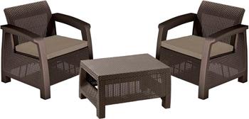 Комплект мебели Allibert Bahamas weekend коричневый 17205922/КОР стул allibert iowa коричневый