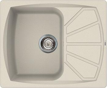Кухонная мойка Elleci Living 125 610х500 metaltek (79) aluminium LML 12579 мойка кухонная elleci easy 325 780x480 metaltek 79 lmy32579