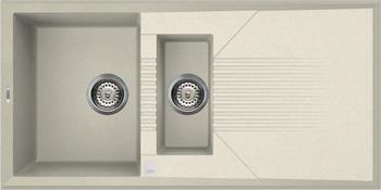 Кухонная мойка Elleci TEKNO 475  granitek (62) Bianco Antico LGT 47562