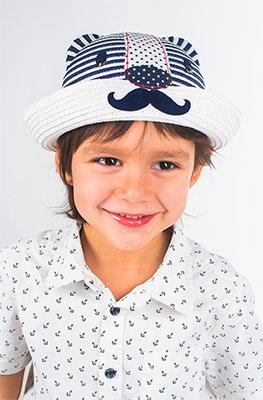 Шляпка Vintage Captain бело-синий помпон болельщицы бело синий