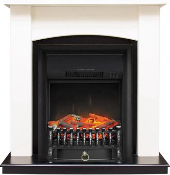 Каминокомплект Royal Flame Baltimore с очагом Fobos BL сл.кость/черный royal flame fobos fx brass rb std5brfx 64905218